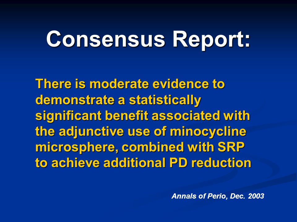 Consensus Report: