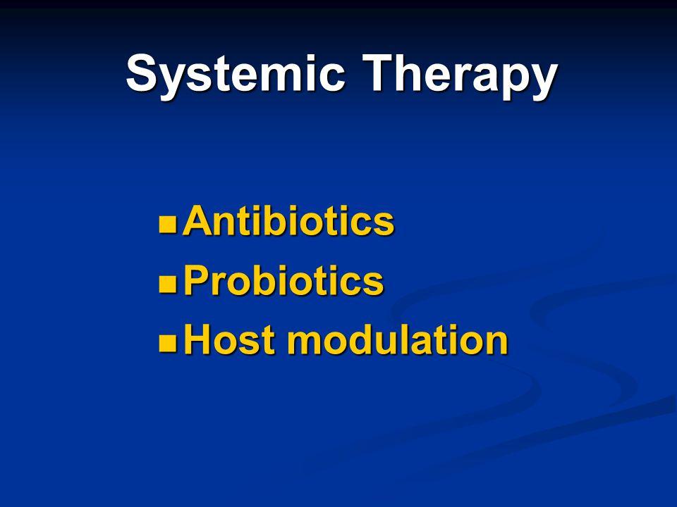 Systemic Therapy Antibiotics Probiotics Host modulation