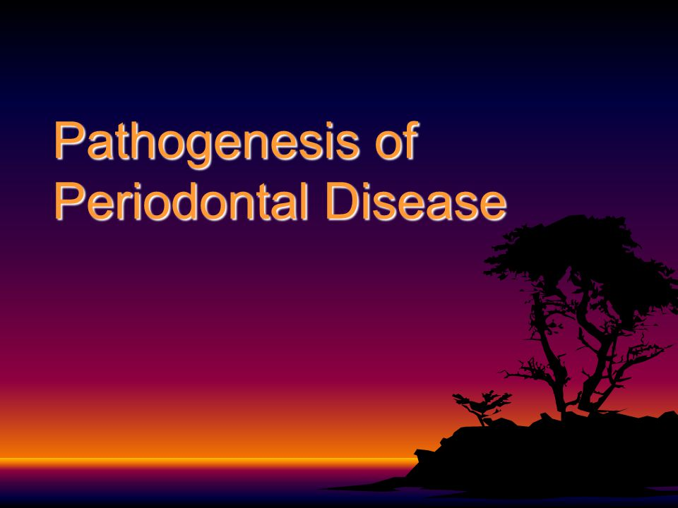 Pathogenesis of Periodontal Disease