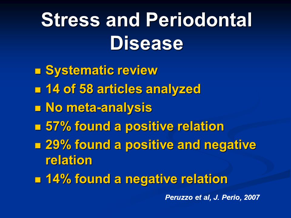Stress and Periodontal Disease