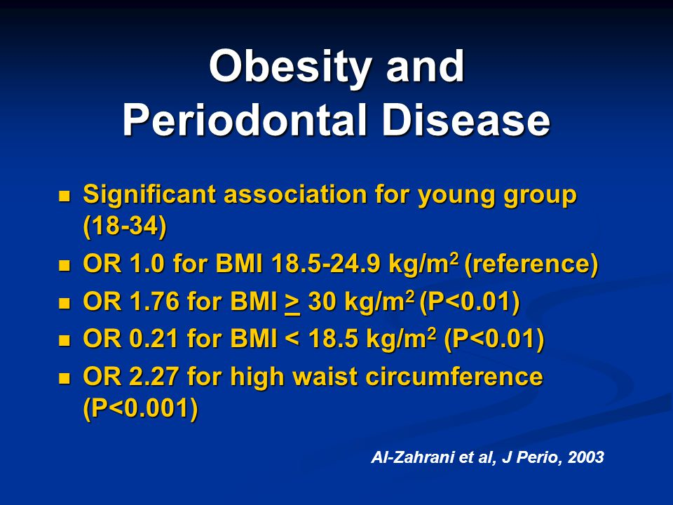 Obesity and Periodontal Disease