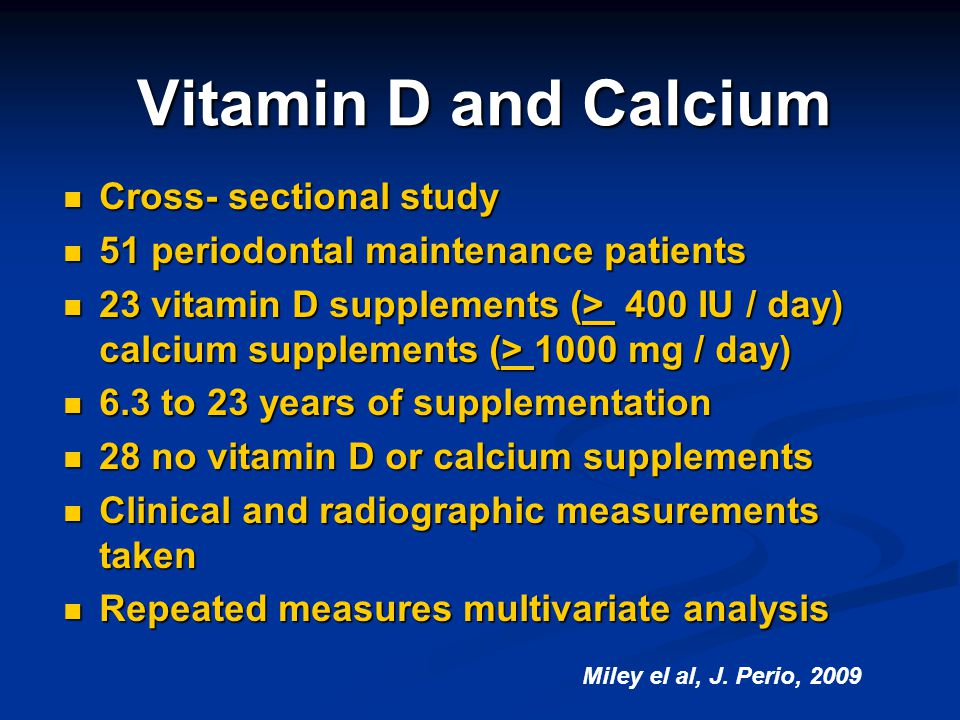 Vitamin D and Calcium Cross- sectional study