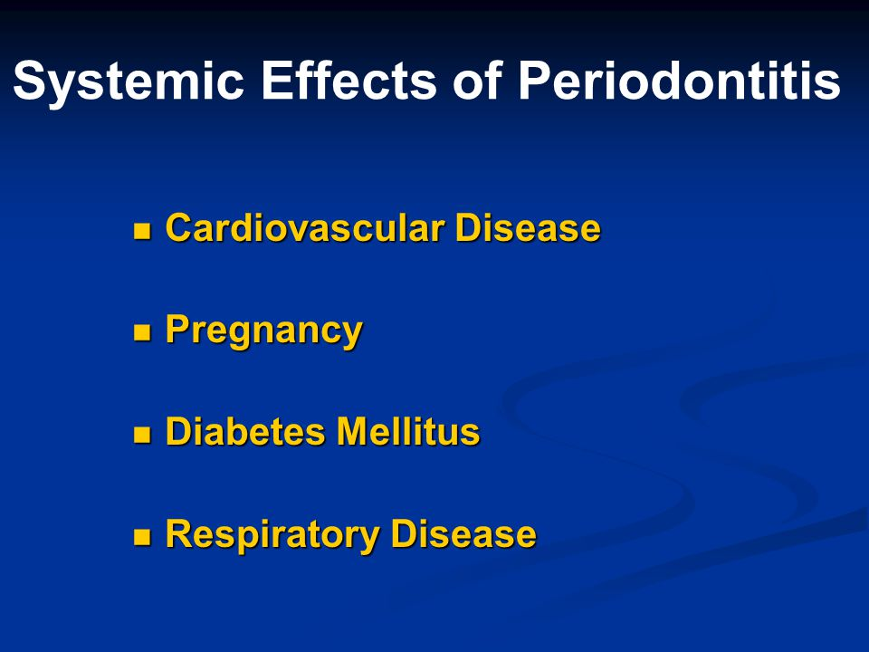 Systemic Effects of Periodontitis
