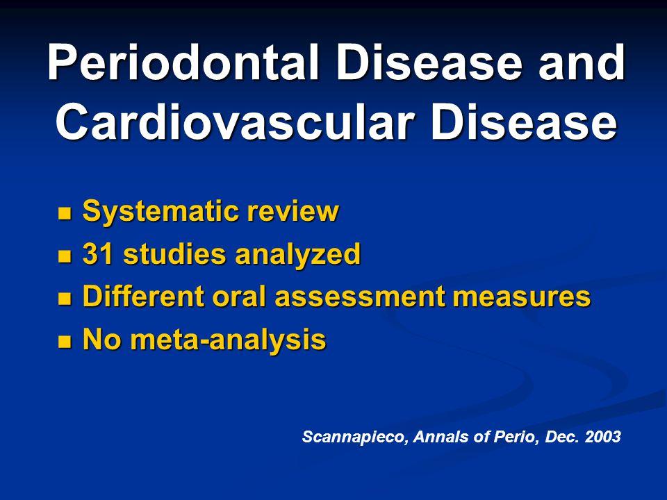 Periodontal Disease and Cardiovascular Disease