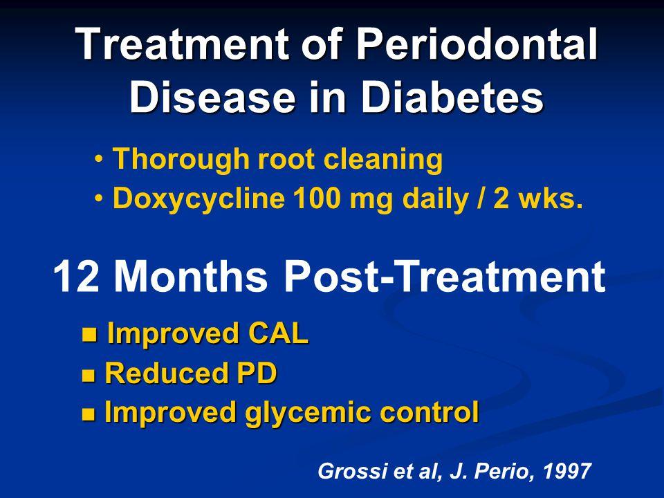 Treatment of Periodontal Disease in Diabetes