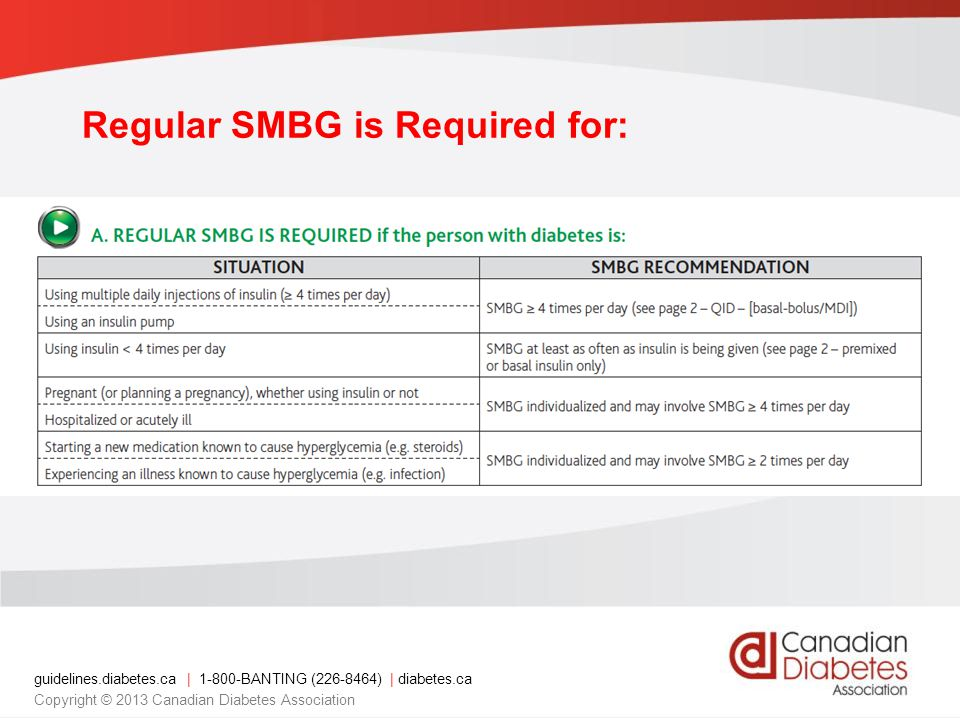 Regular SMBG is Required for: