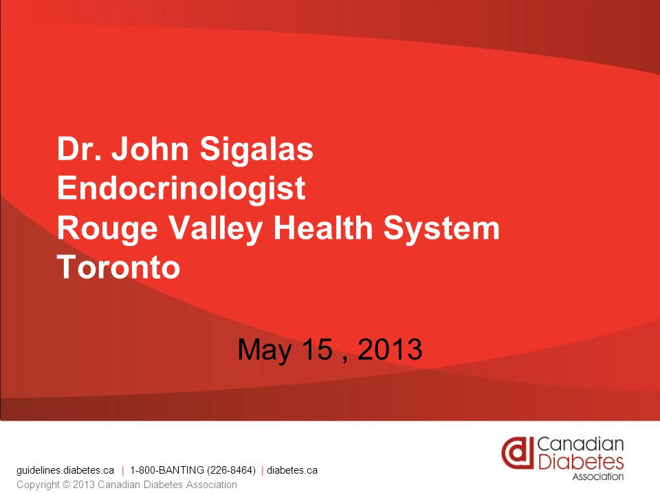 Dr. John Sigalas Endocrinologist Rouge Valley Health System Toronto