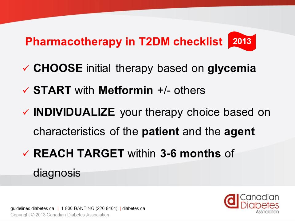 Pharmacotherapy in T2DM checklist