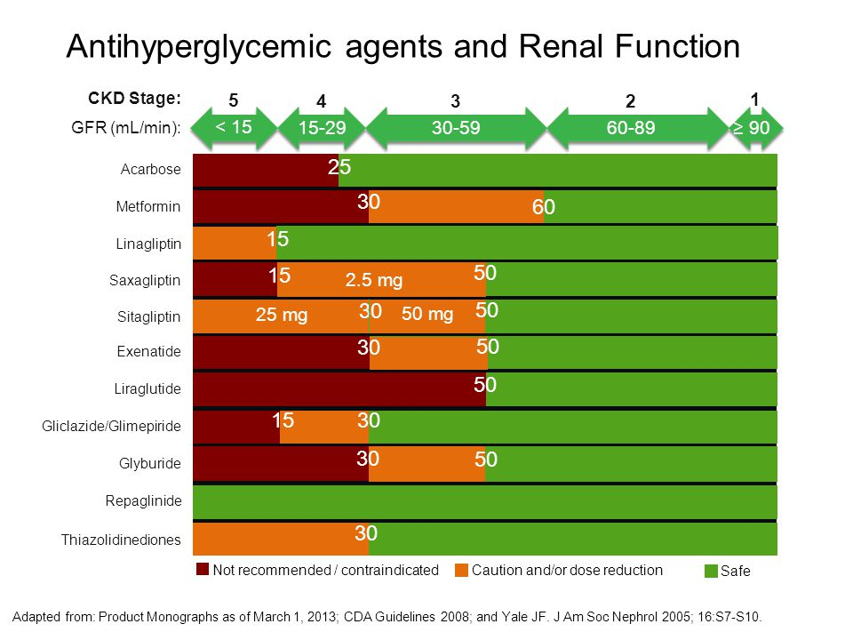 Antihyperglycemic agents and Renal Function