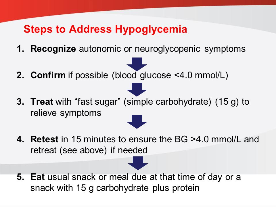 Steps to Address Hypoglycemia