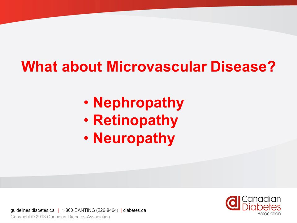 What about Microvascular Disease