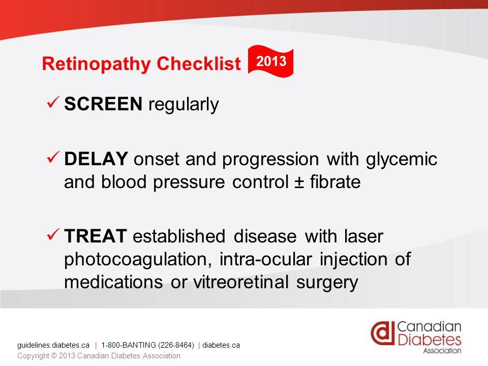 Retinopathy Checklist