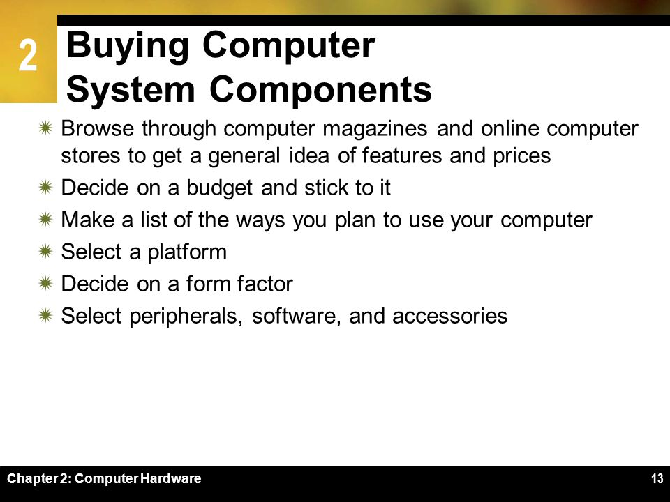 Buying Computer System Components