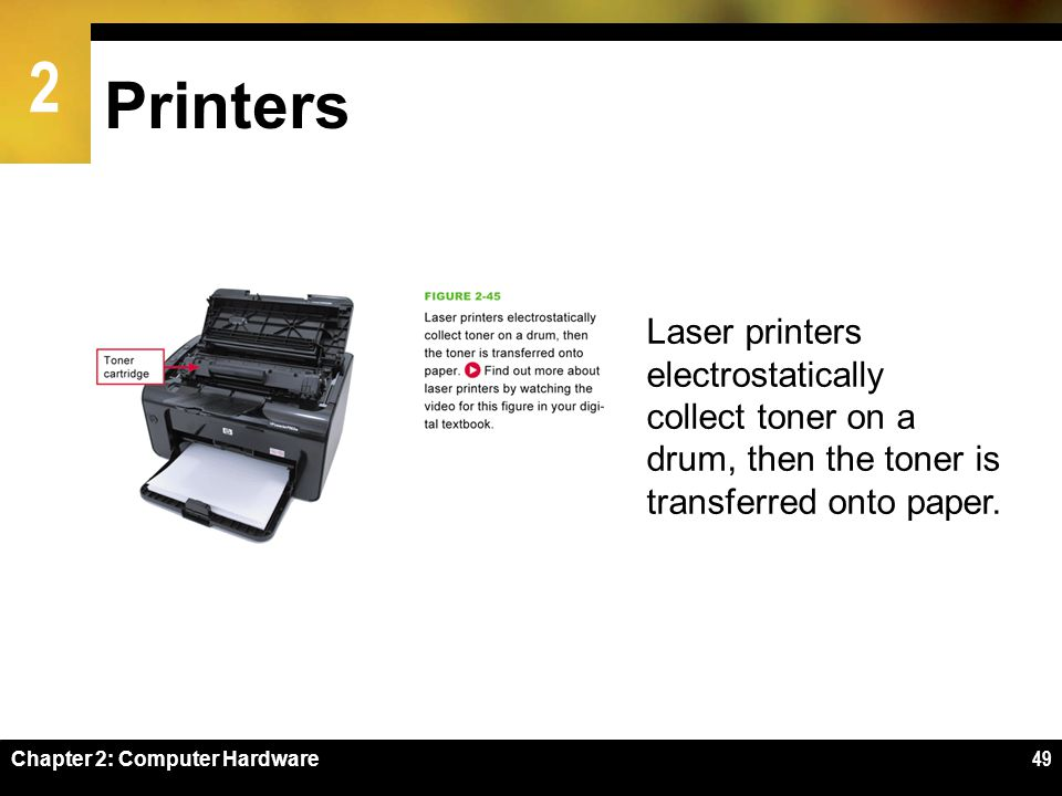 Printers Laser printers electrostatically