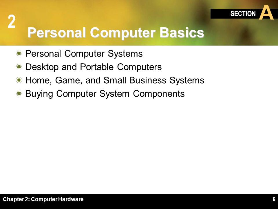 Personal Computer Basics