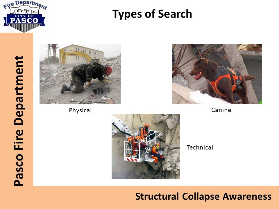 Types of Search Physical Canine Technical