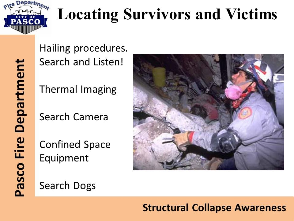 Locating Survivors and Victims