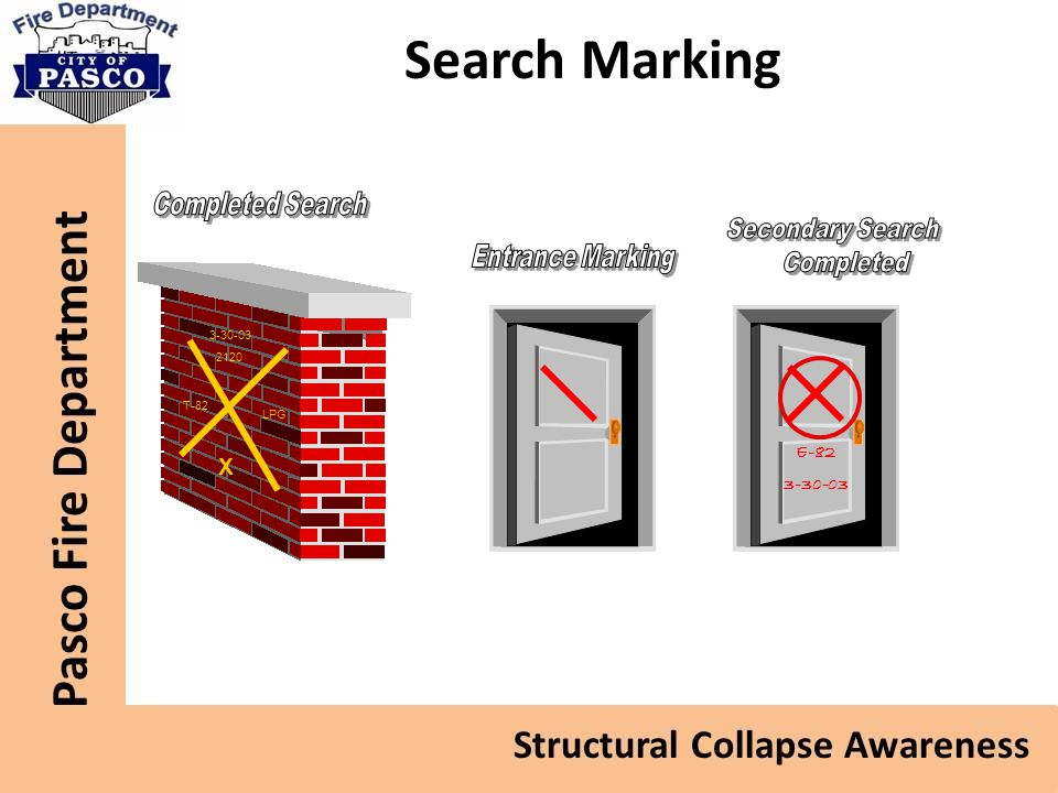 Search Marking X Completed Search Secondary Search Completed