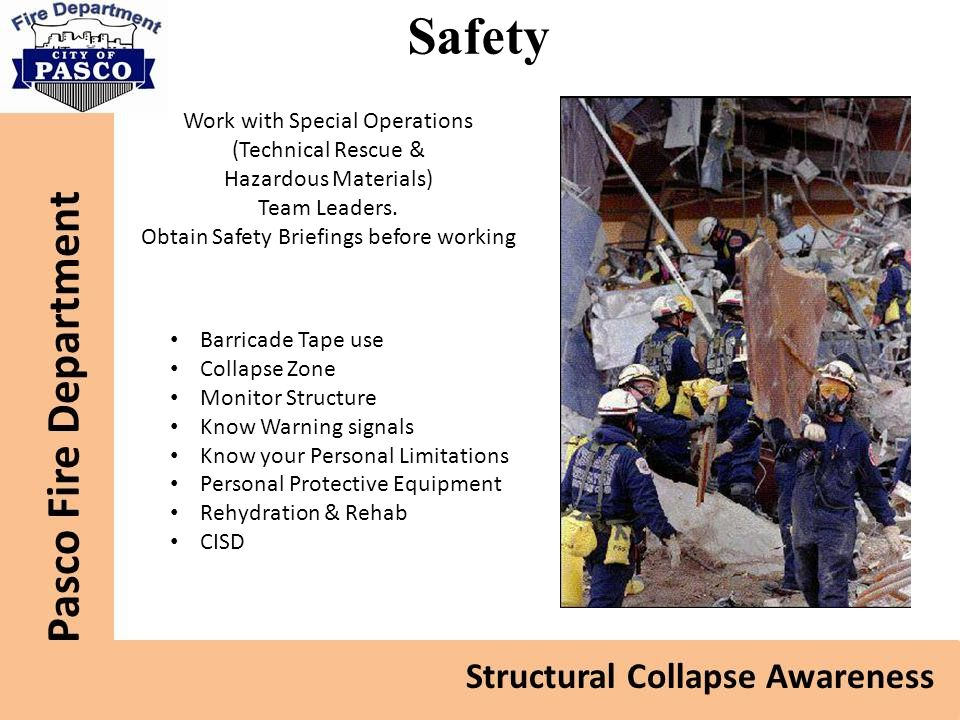 Safety Work with Special Operations (Technical Rescue &