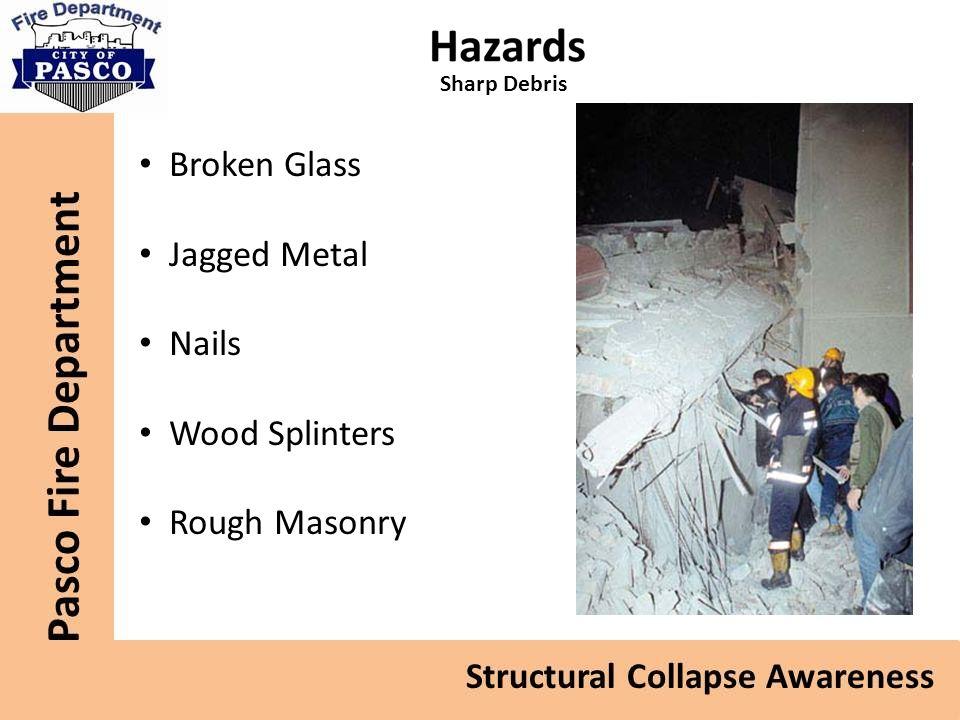 Broken Glass Jagged Metal Nails Wood Splinters Rough Masonry