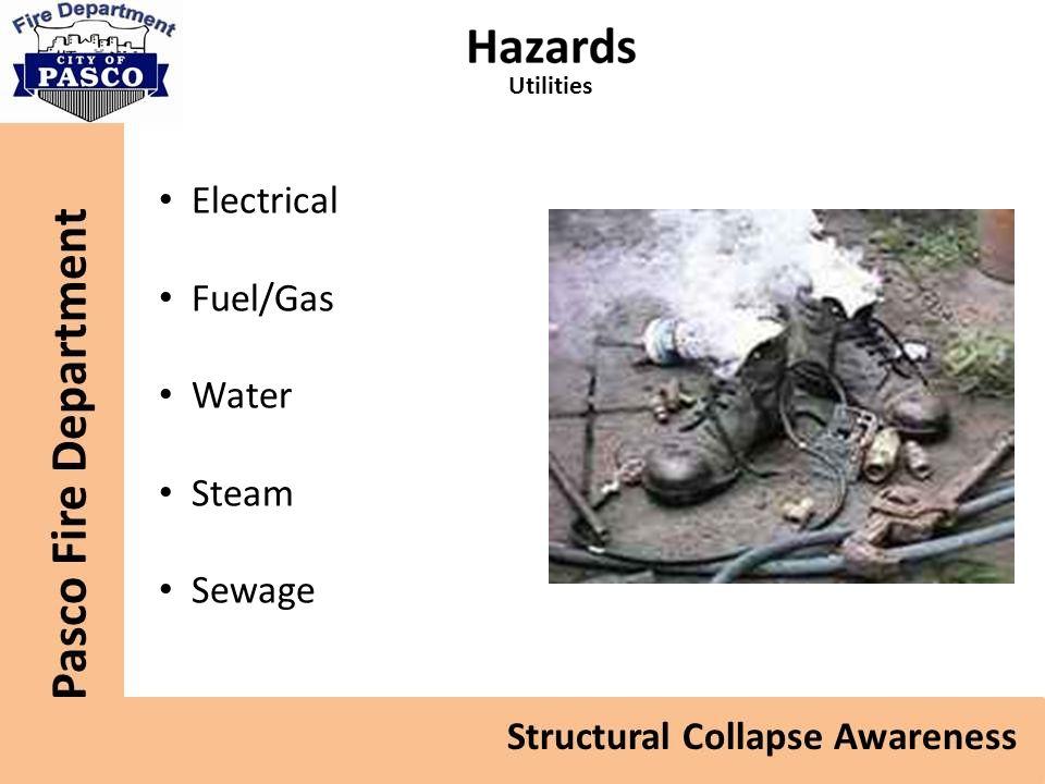 Utilities Electrical Fuel/Gas Water Steam Sewage