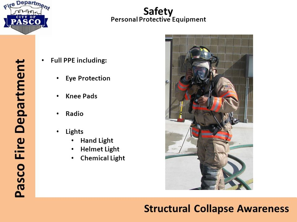 Safety Personal Protective Equipment Full PPE including: