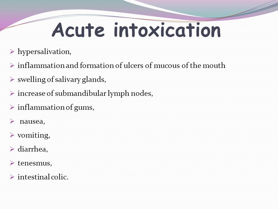 Acute intoxication hypersalivation,