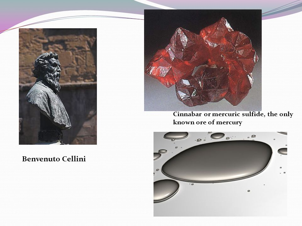 Cinnabar or mercuric sulfide, the only known ore of mercury