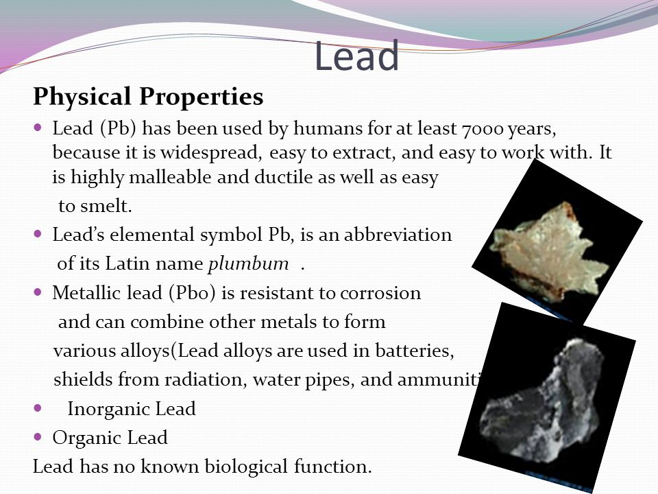 Lead Physical Properties