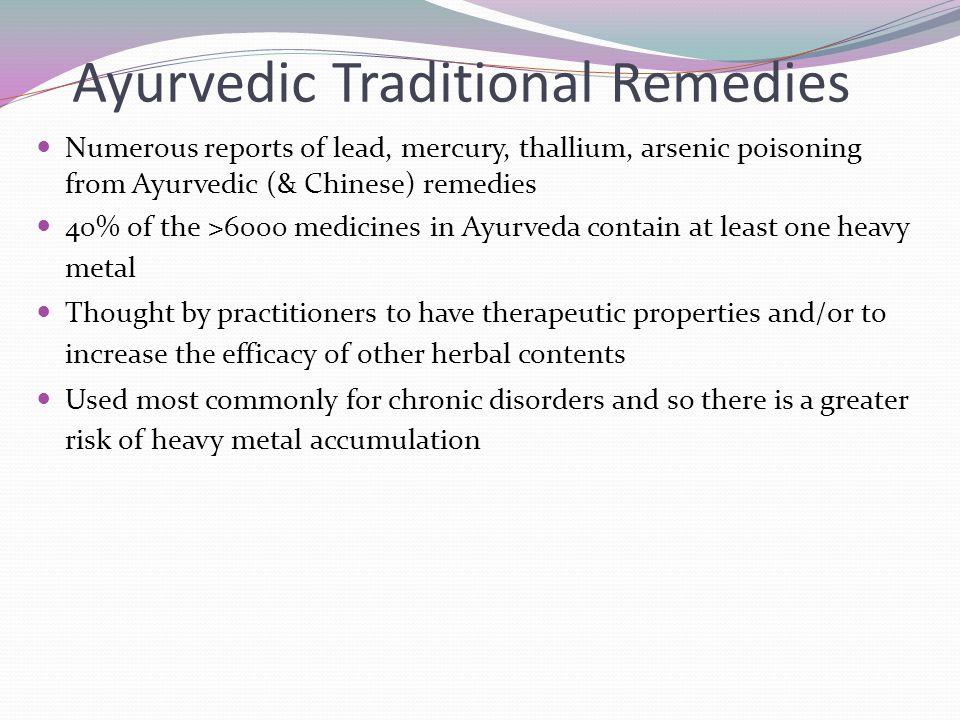 Ayurvedic Traditional Remedies