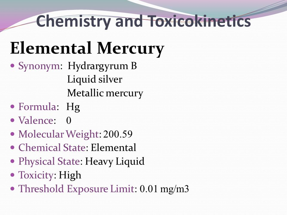 Chemistry and Toxicokinetics