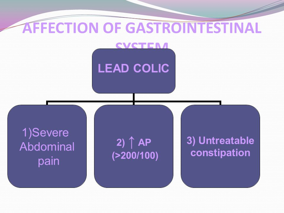 AFFECTION OF GASTROINTESTINAL SYSTEM