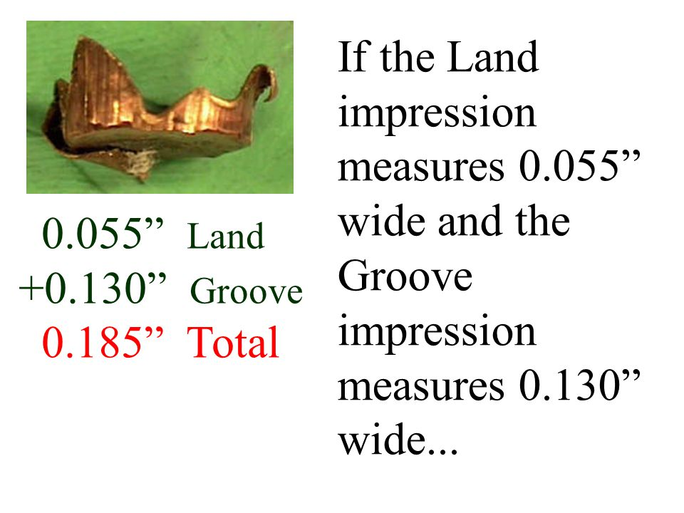 If the Land impression measures 0
