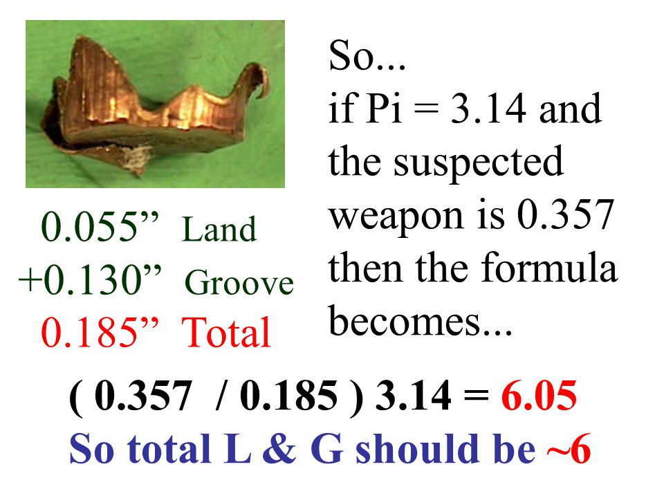 So... if Pi = 3.14 and the suspected