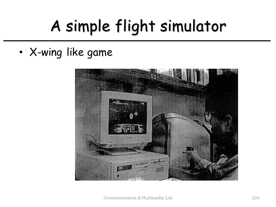A simple flight simulator