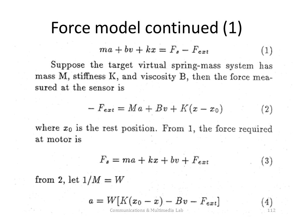 Force model continued (1)