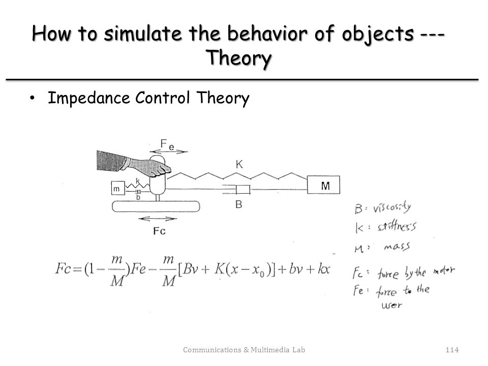How to simulate the behavior of objects --- Theory