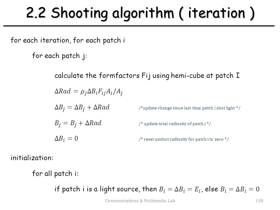 2.2 Shooting algorithm ( iteration )