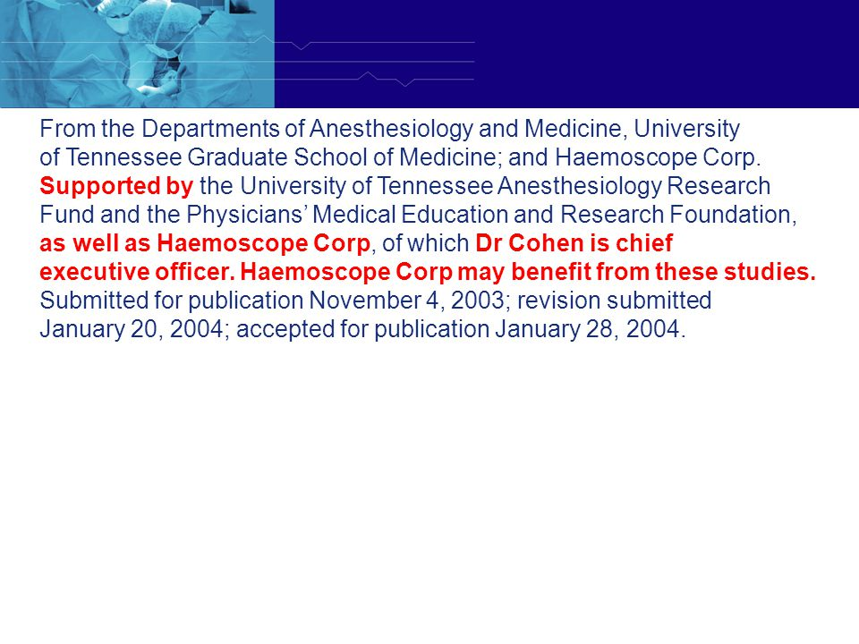 From the Departments of Anesthesiology and Medicine, University
