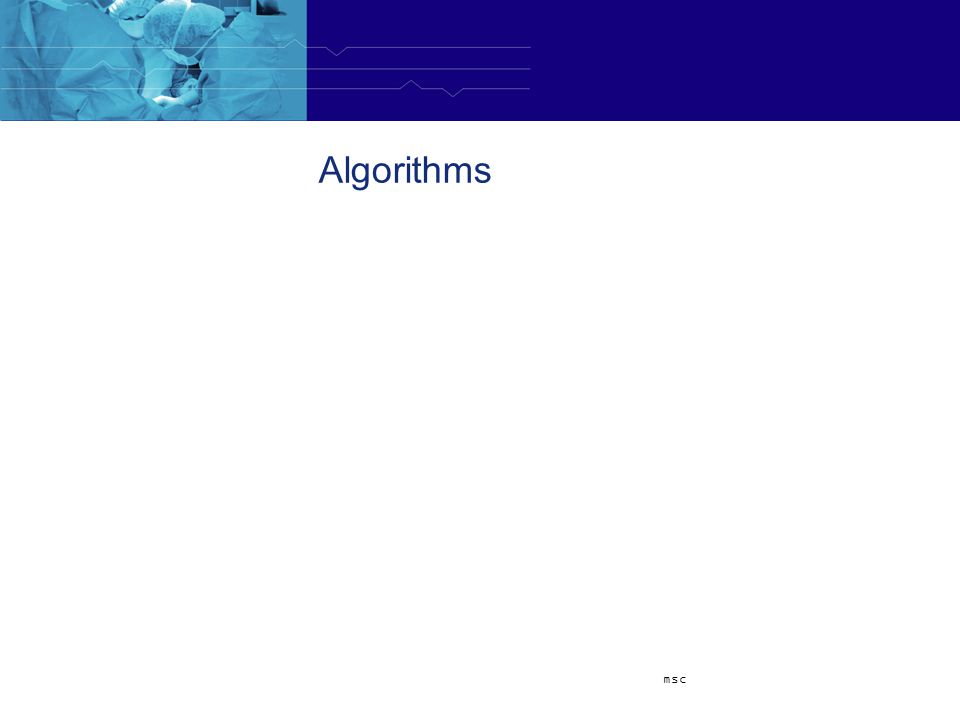 Algorithms msc