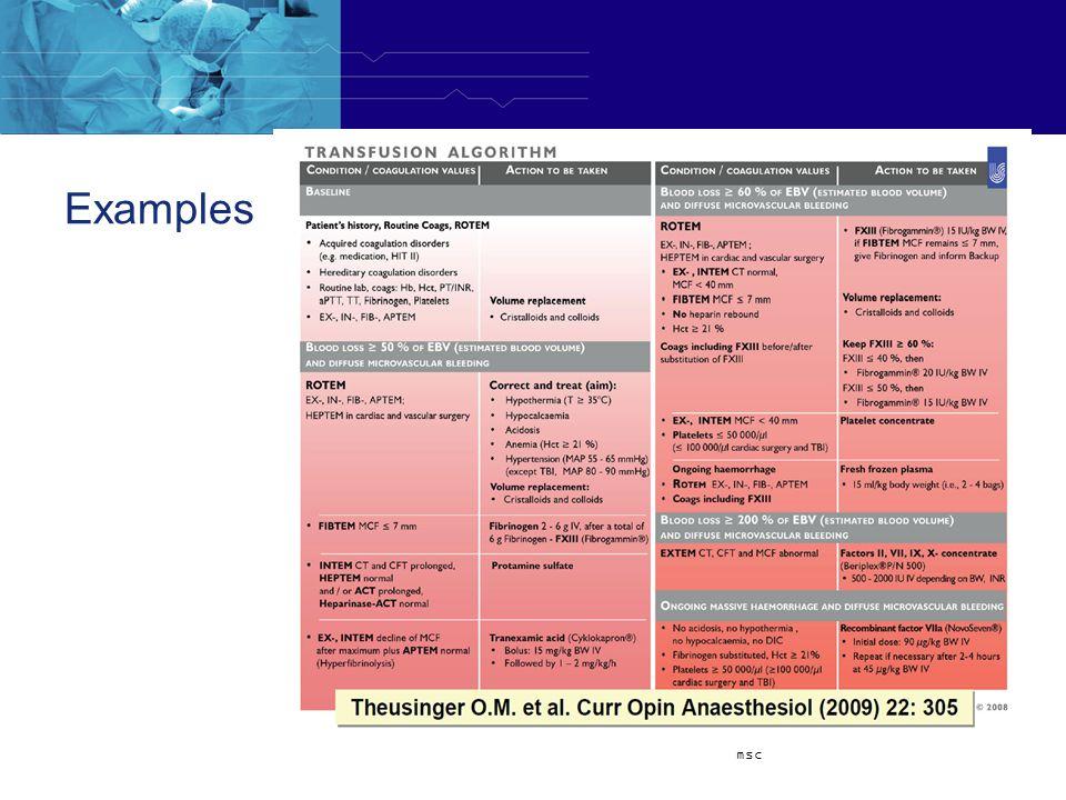 Examples msc