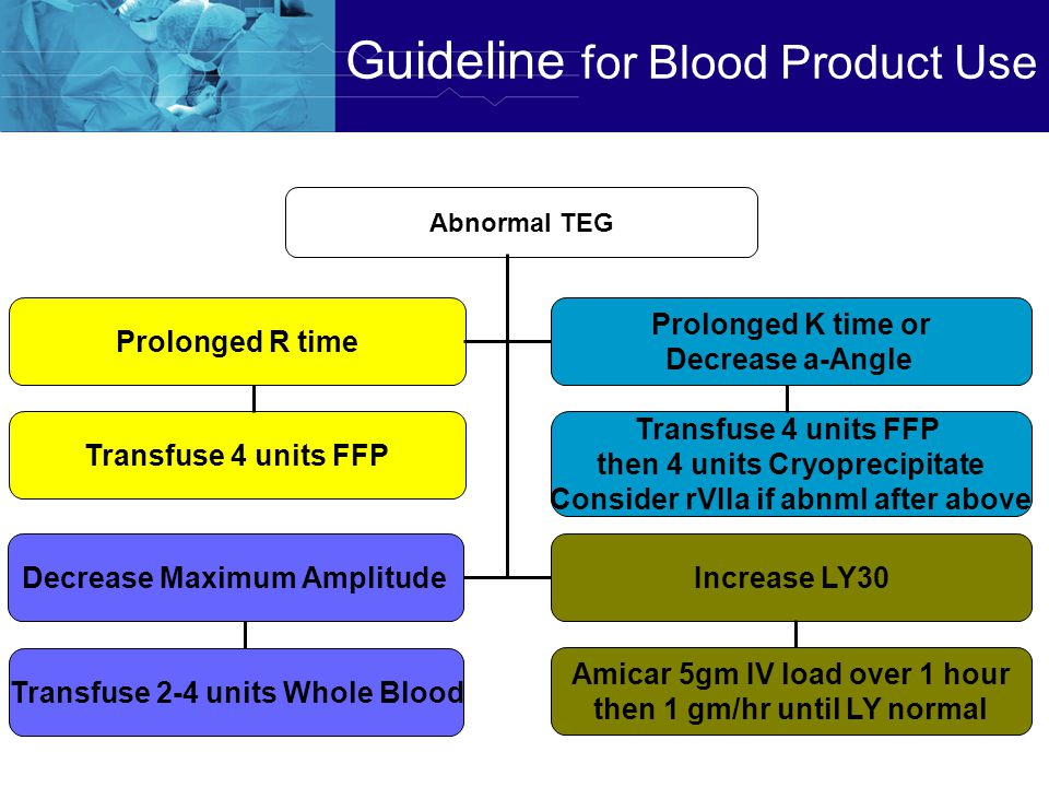 Guideline for Blood Product Use