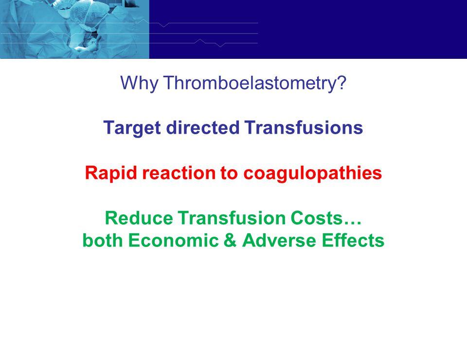 Why Thromboelastometry. Why Thromboelastometry