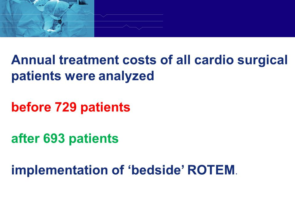 Annual treatment costs of all cardio surgical patients were analyzed