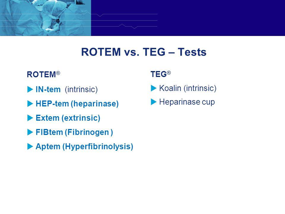 ROTEM vs. TEG – Tests ROTEM® TEG® IN-tem (intrinsic)