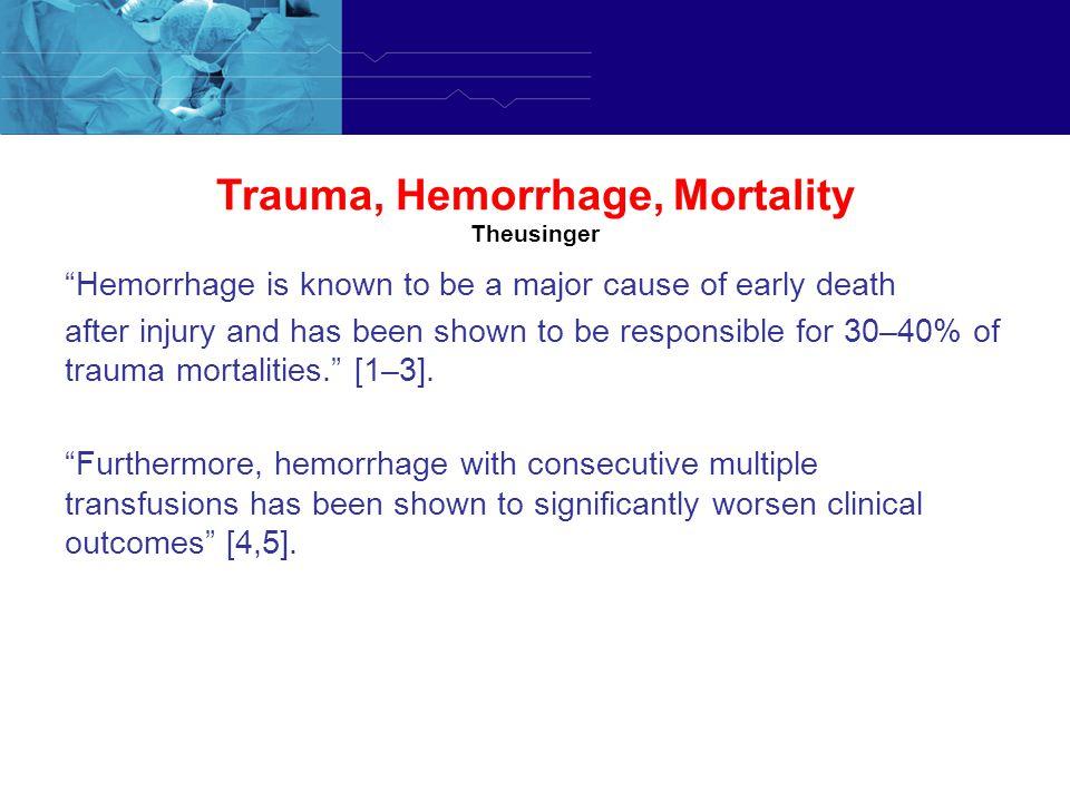 Trauma, Hemorrhage, Mortality Theusinger