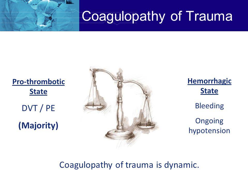 Coagulopathy of Trauma