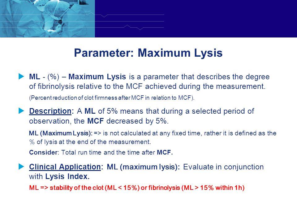 Parameter: Maximum Lysis