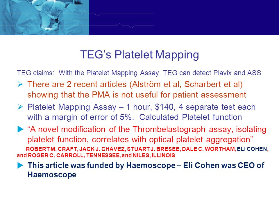 TEG's Platelet Mapping