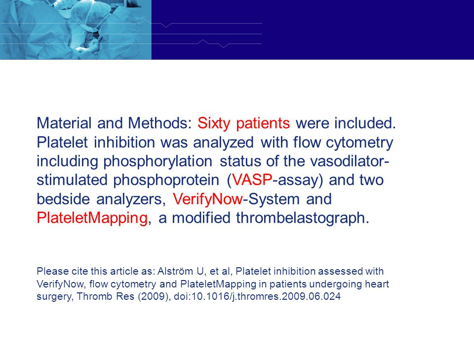 Material and Methods: Sixty patients were included